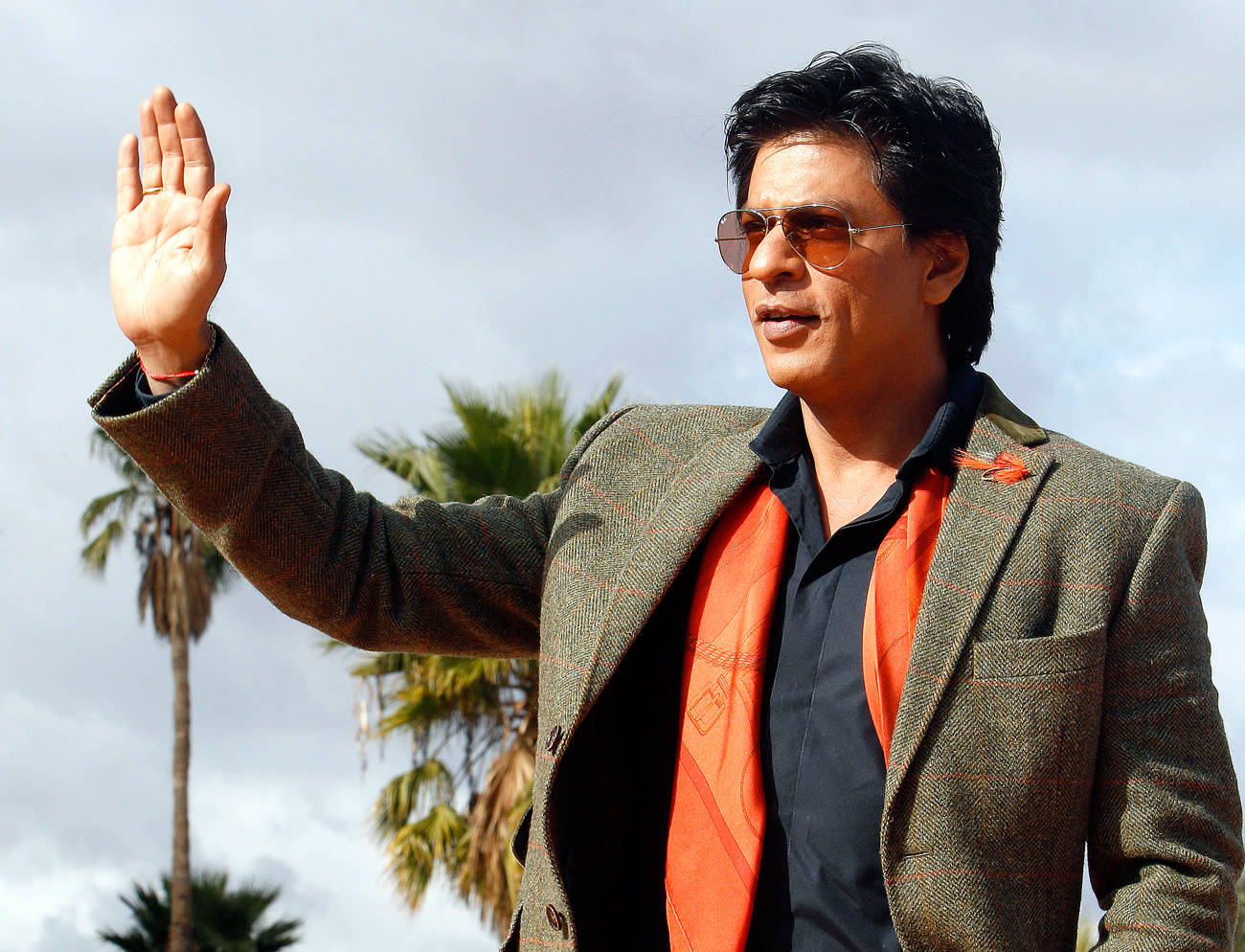 Indian actor Shahrukh Khan poses for photographers at the Marrakech International Film Festival in Marrakech.