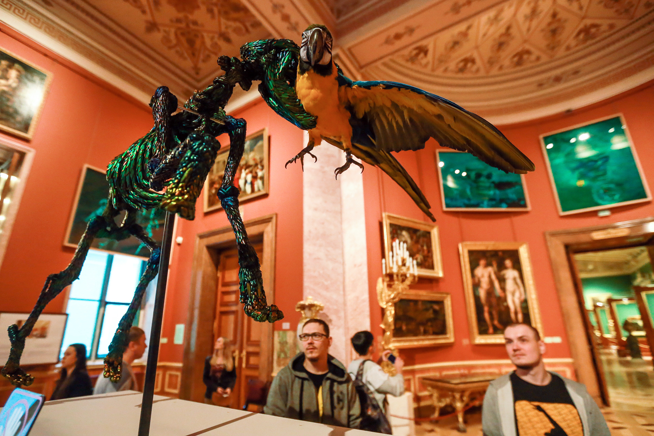 """Jan Fabre: Knight of Despair / Warrior of Beauty"" exhibition at the State Hermitage Museum."