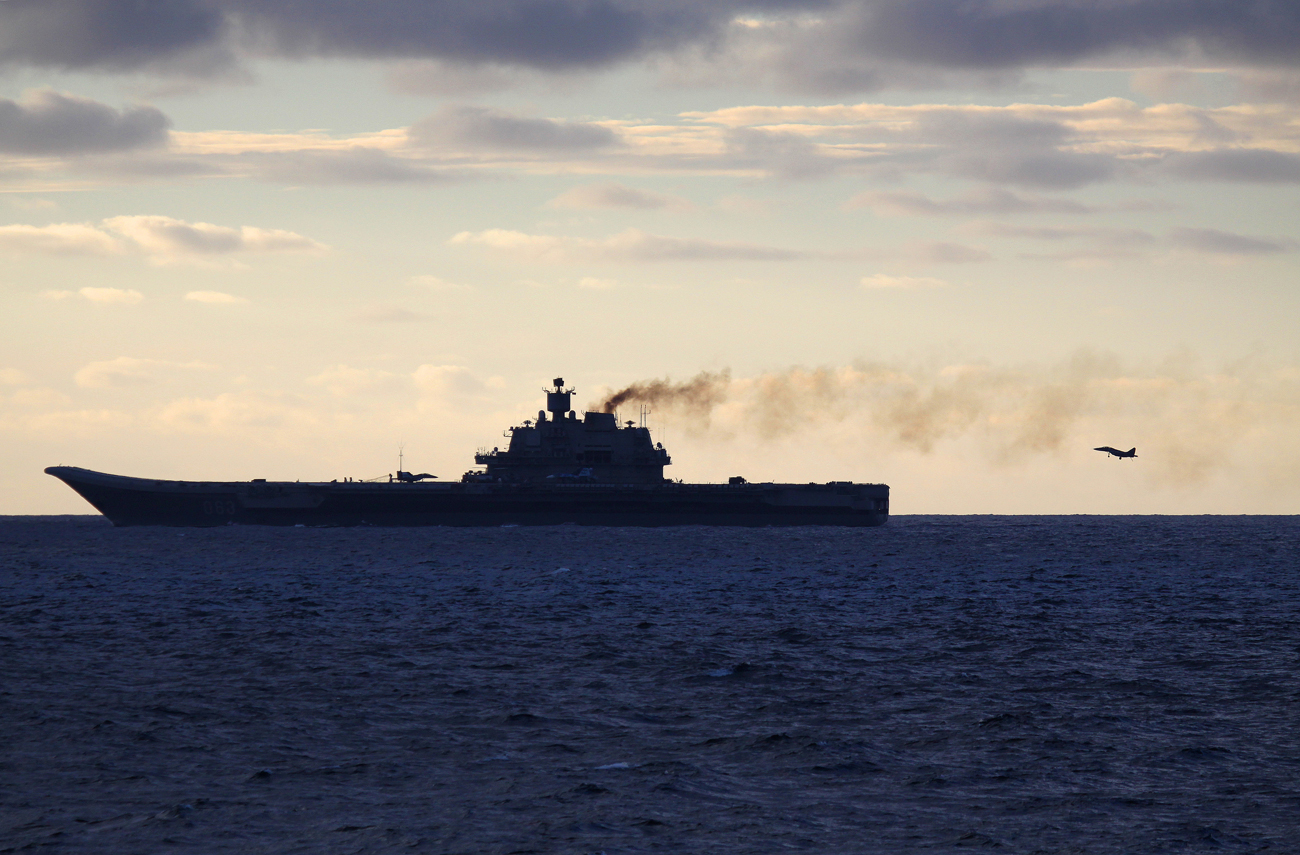 Photo: The Russian aircraft carrier Admiral Kuznetsov.