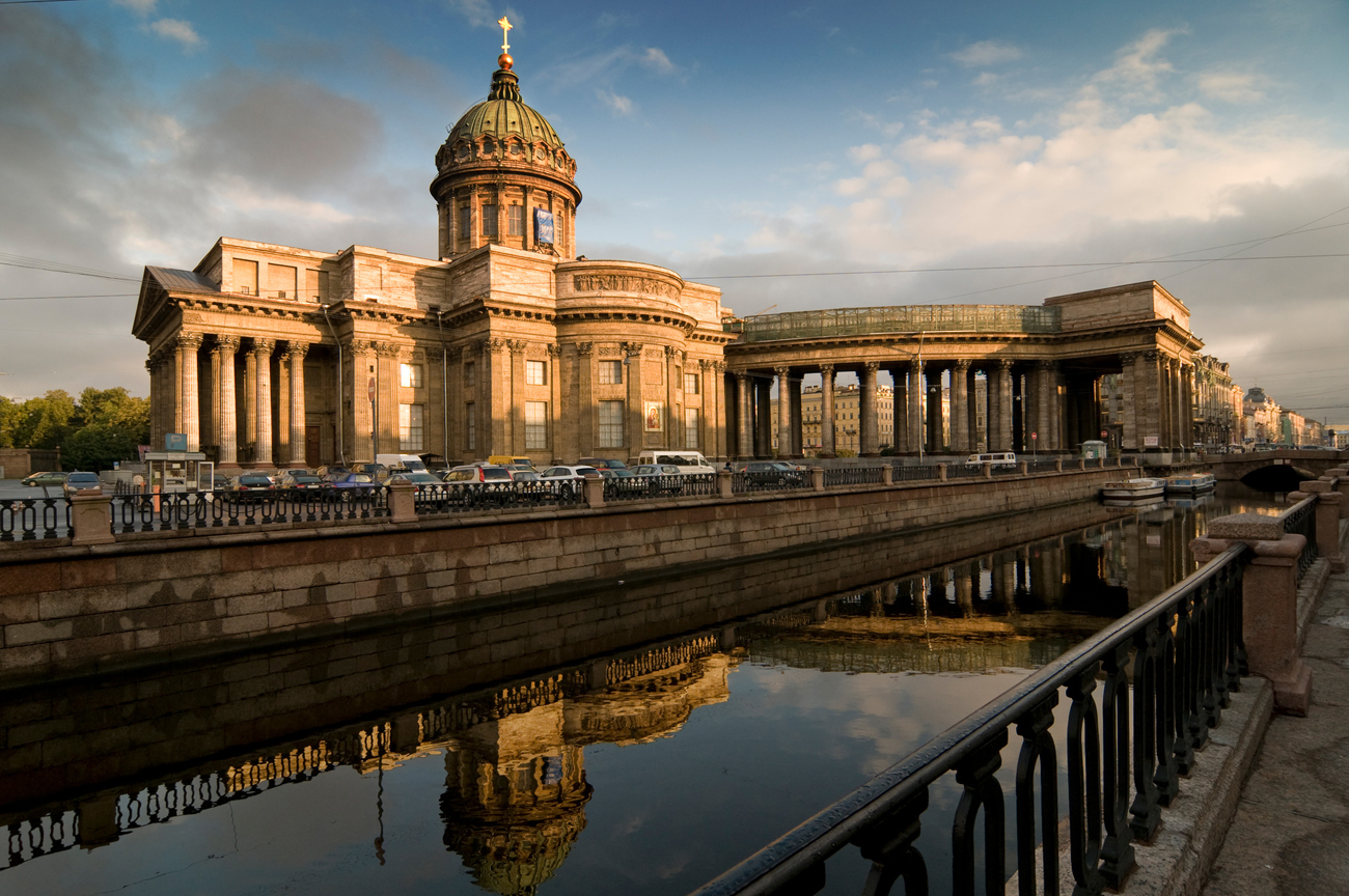 The Kazan Cathedral in St. Petersburg.