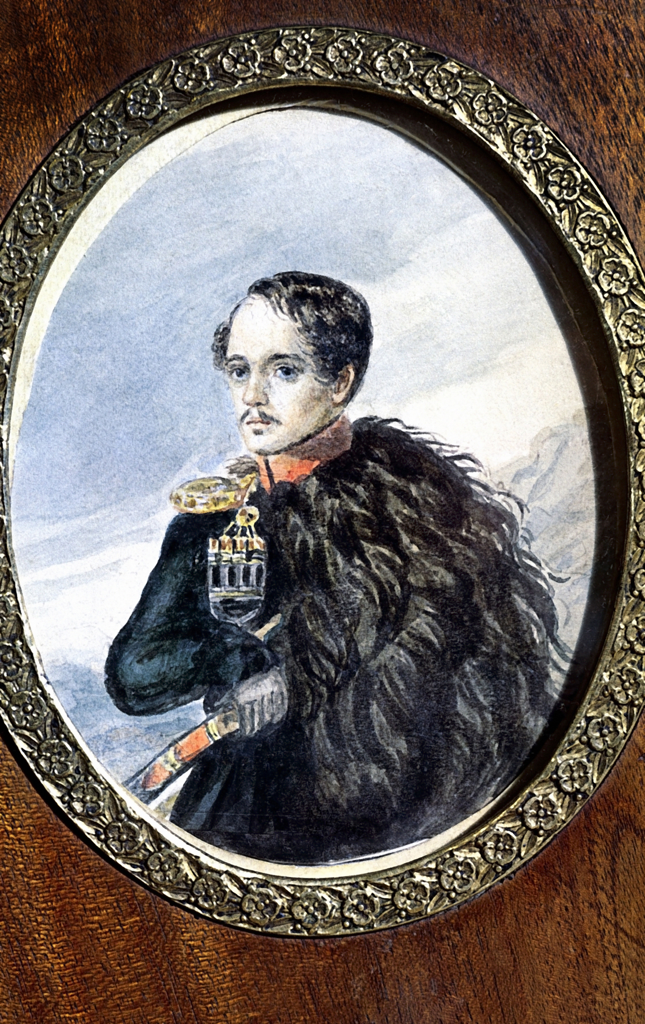 Mikhail Lermontov, self-portrait, 1847 from the collection of the State Literary Museum, Moscow. Source: RIA Novosti