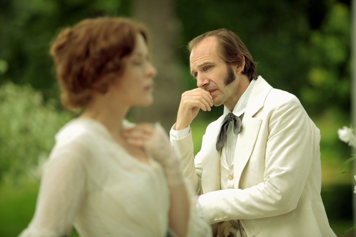 "Ralph Fiennes as Mikhail Rakitin in Vera Glagoleva's movie ""Two Women."""