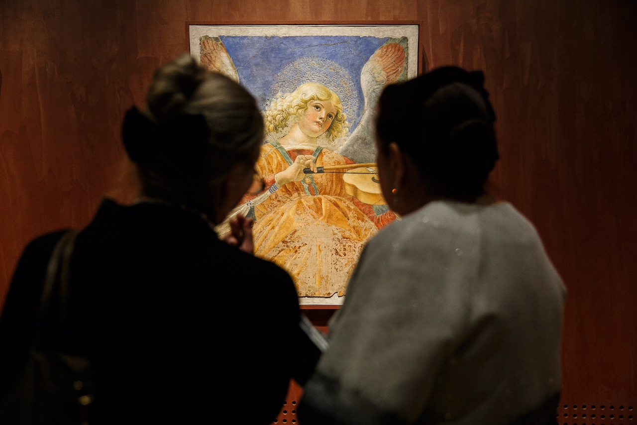 "The exhibition, entitled ""Roma Aeterna. Masterpieces of the Vatican Pinacoteca"" opened on Nov. 25."