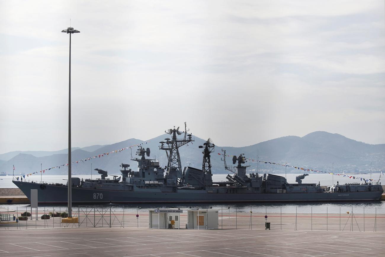 Kapal perusak antikapal selam Armada Pasifik Rusia turut ambil bagian dalam latihan militer di laut Jepang.