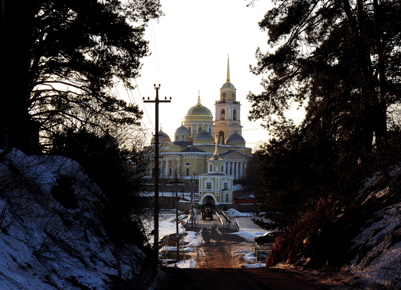 The Nilo-Stolobenskaya Hermitage Russian Orthodox monastery on Lake Seliger