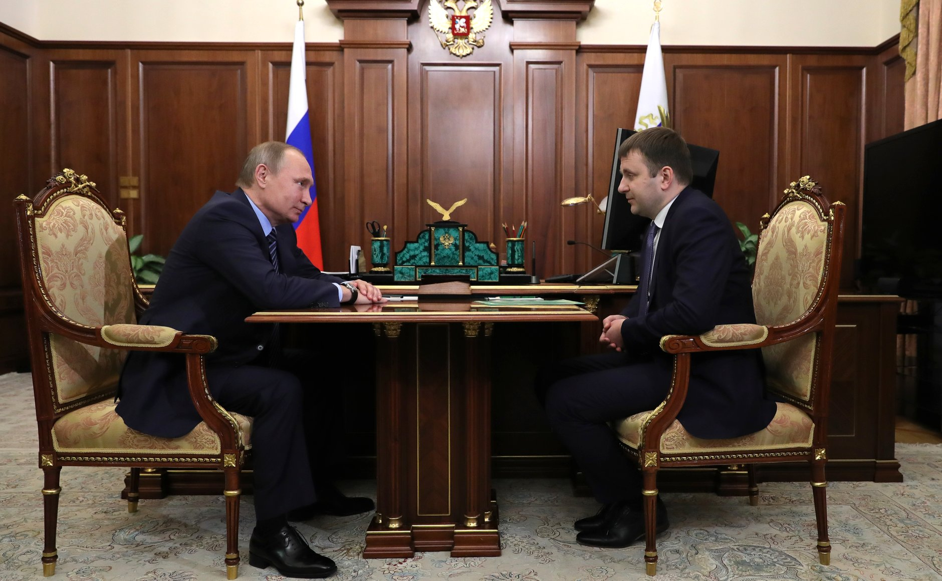 Russian President Vladimir Putin signed a decree appointing Maxim Oreshkin to the office of the Minister of Economic Development.