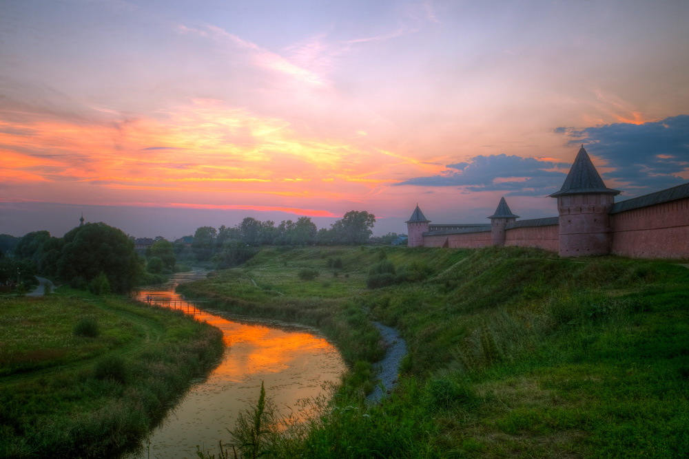 The walls of the Suzdal Kremlin