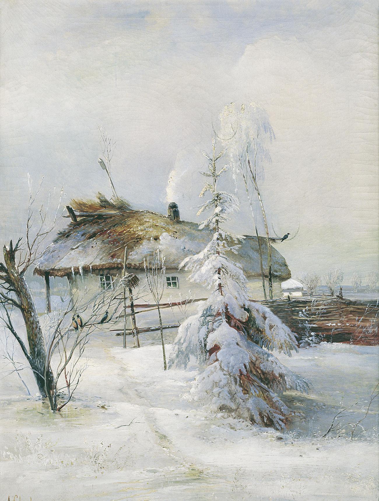 「冬」=アレクセイ・サヴラソフ作