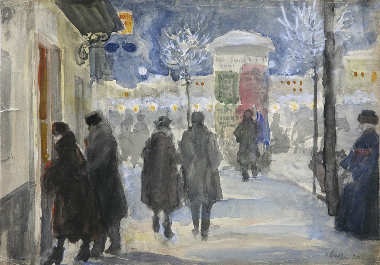「モスクワの通り」(1922年)=セルゲイ・ヴィノグラドフ作  / Getty Images