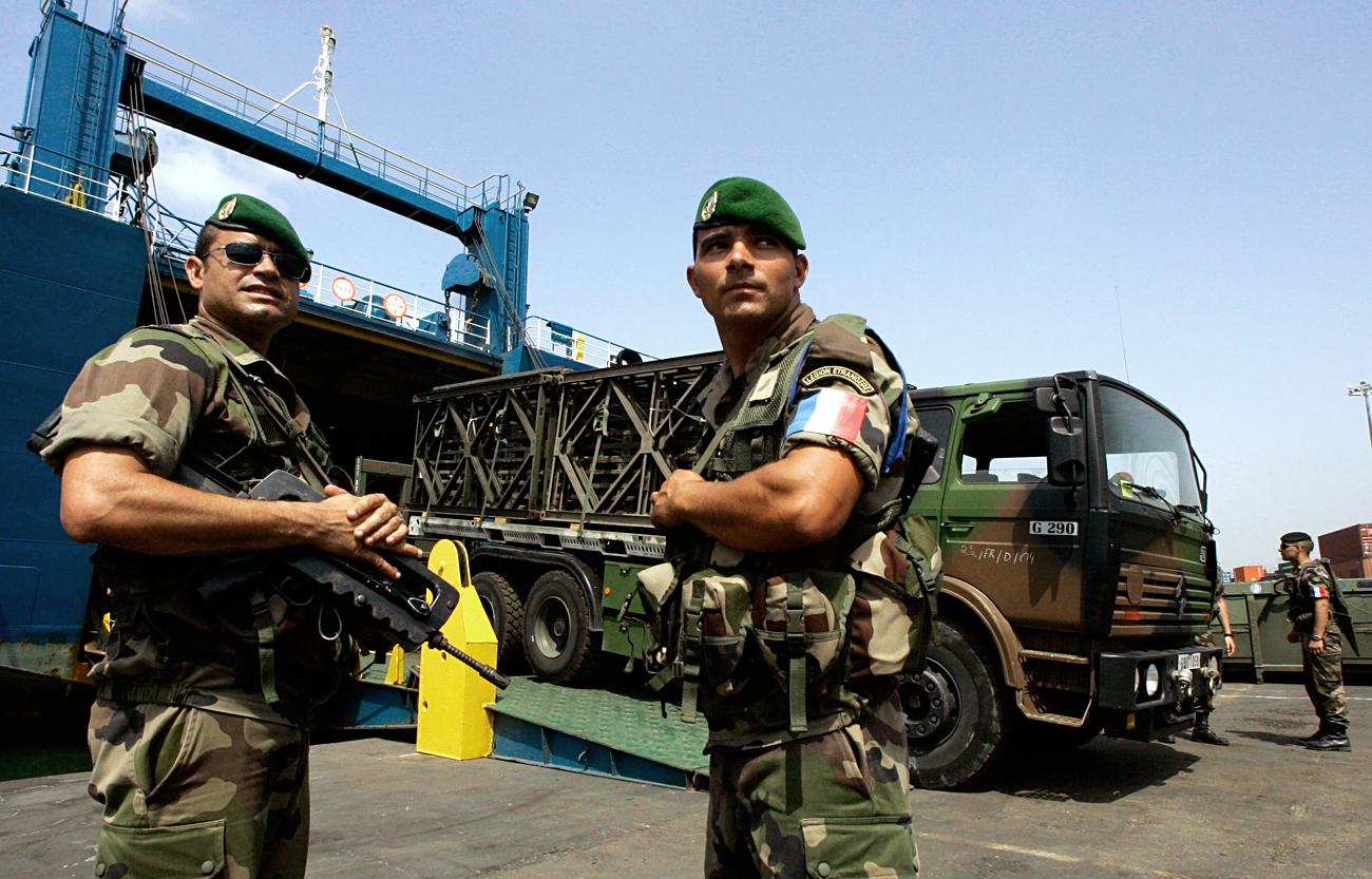 Tujska legija v Bejrutu, avgust 2016. Vir: Reuters.
