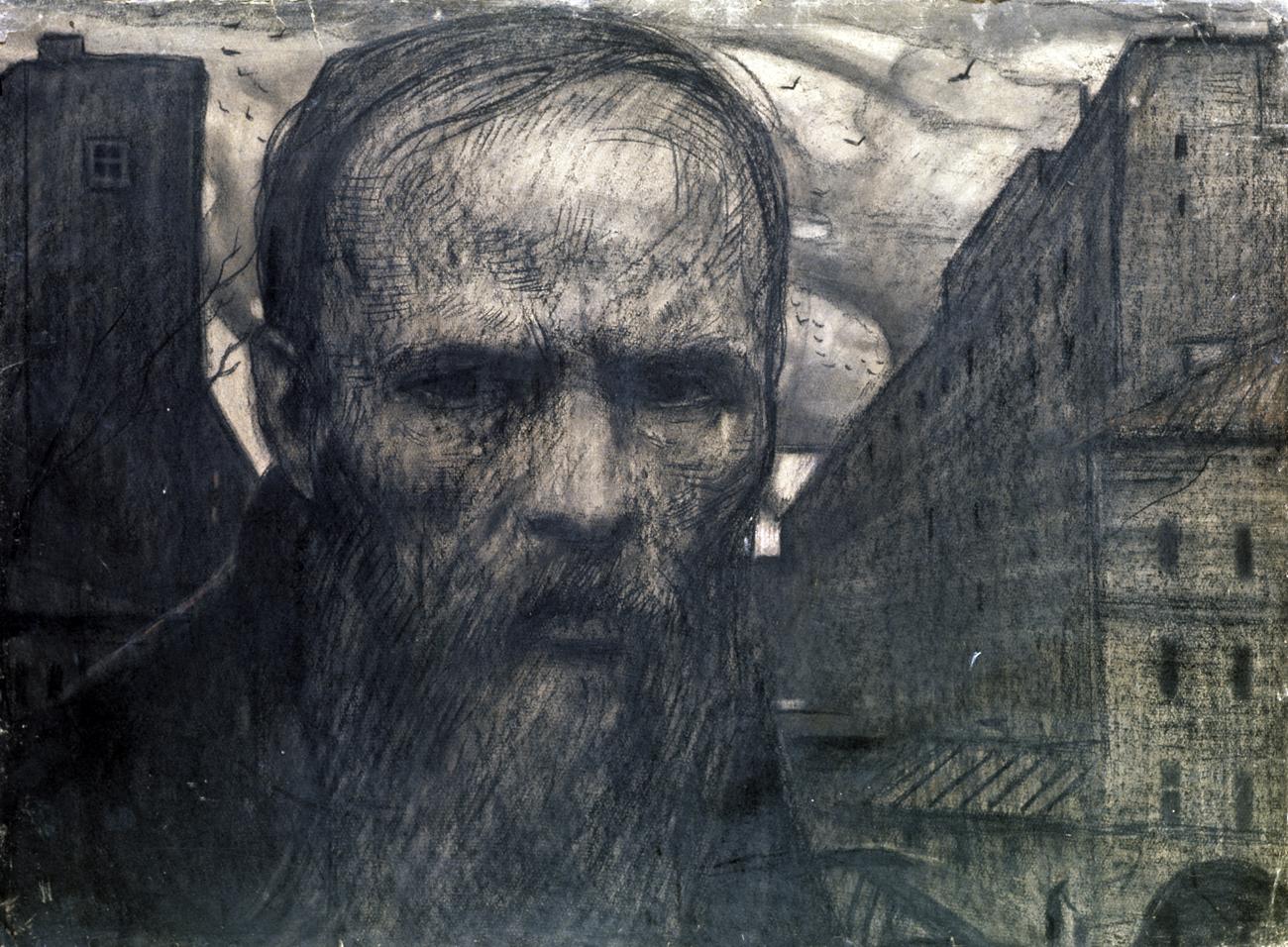 Ilya Glazunov's Dostoyevsky. 1962