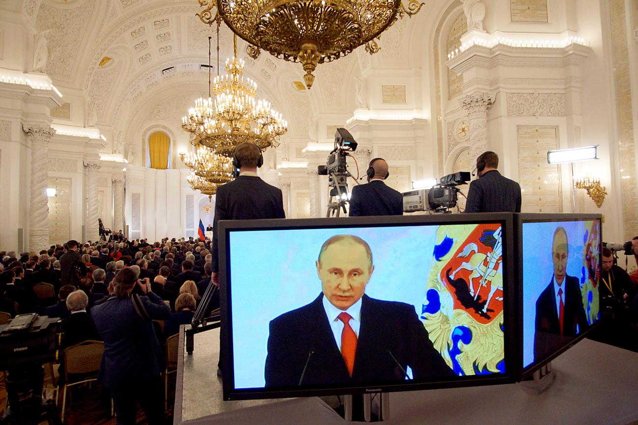 プーチン大統領の連邦議会向け年次教書演説、12月1日