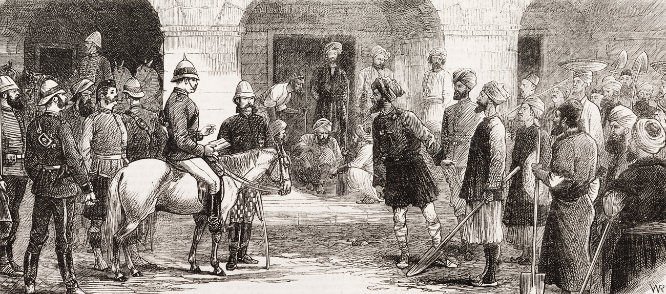Britain and Russia jockeyed for political influence in Afghanistan in the 19th century.