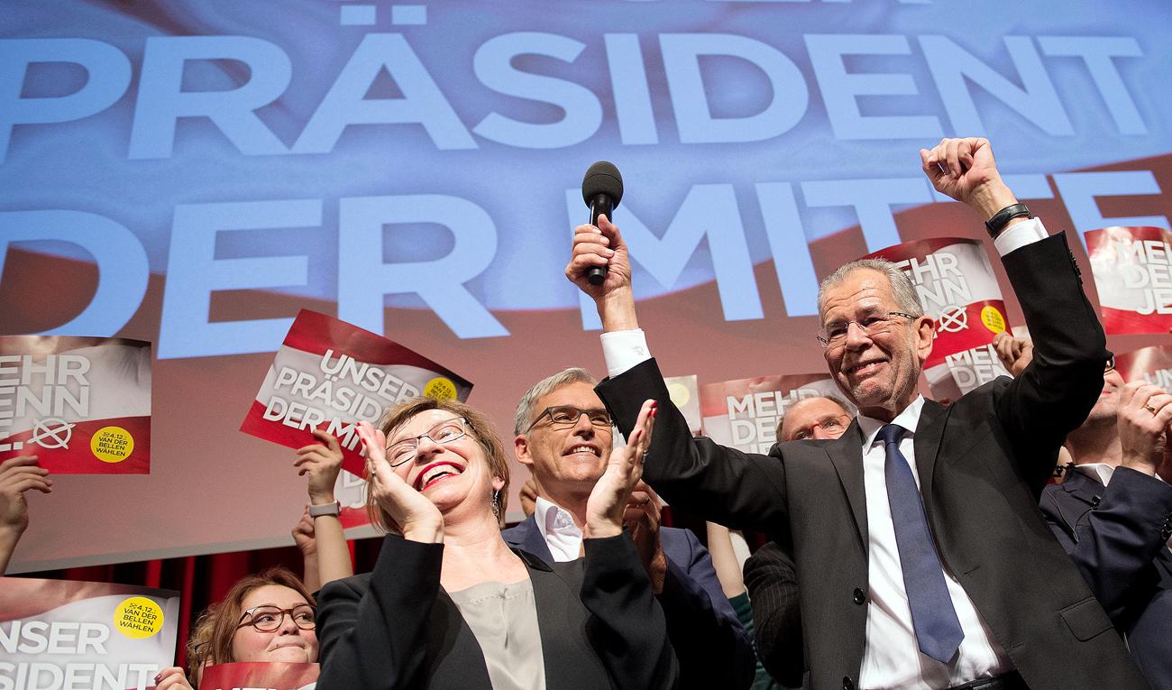 Der liberale Alexander Van der Bellen wird neuer Präsident Österreichs.