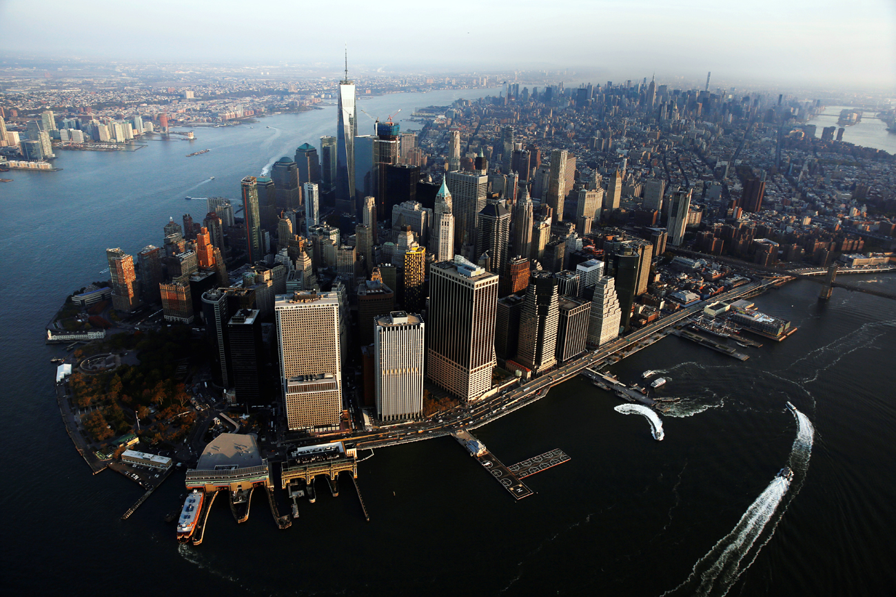 Before 2014, when political relations between Russia and the U.S. worsened, demand among Russian citizens for elite American real estate was very high. Photo: Manhattan borough of New York, U.S.