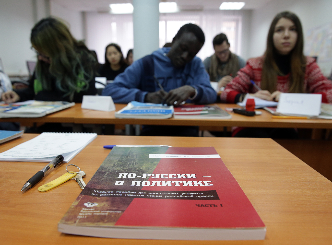 According to the Russian Ministry of Education and Science, there are more than 1 million people from 160 countries who have graduated from Russian universities. Photo: Russian language classes at the Peoples' Friendship University in Moscow.