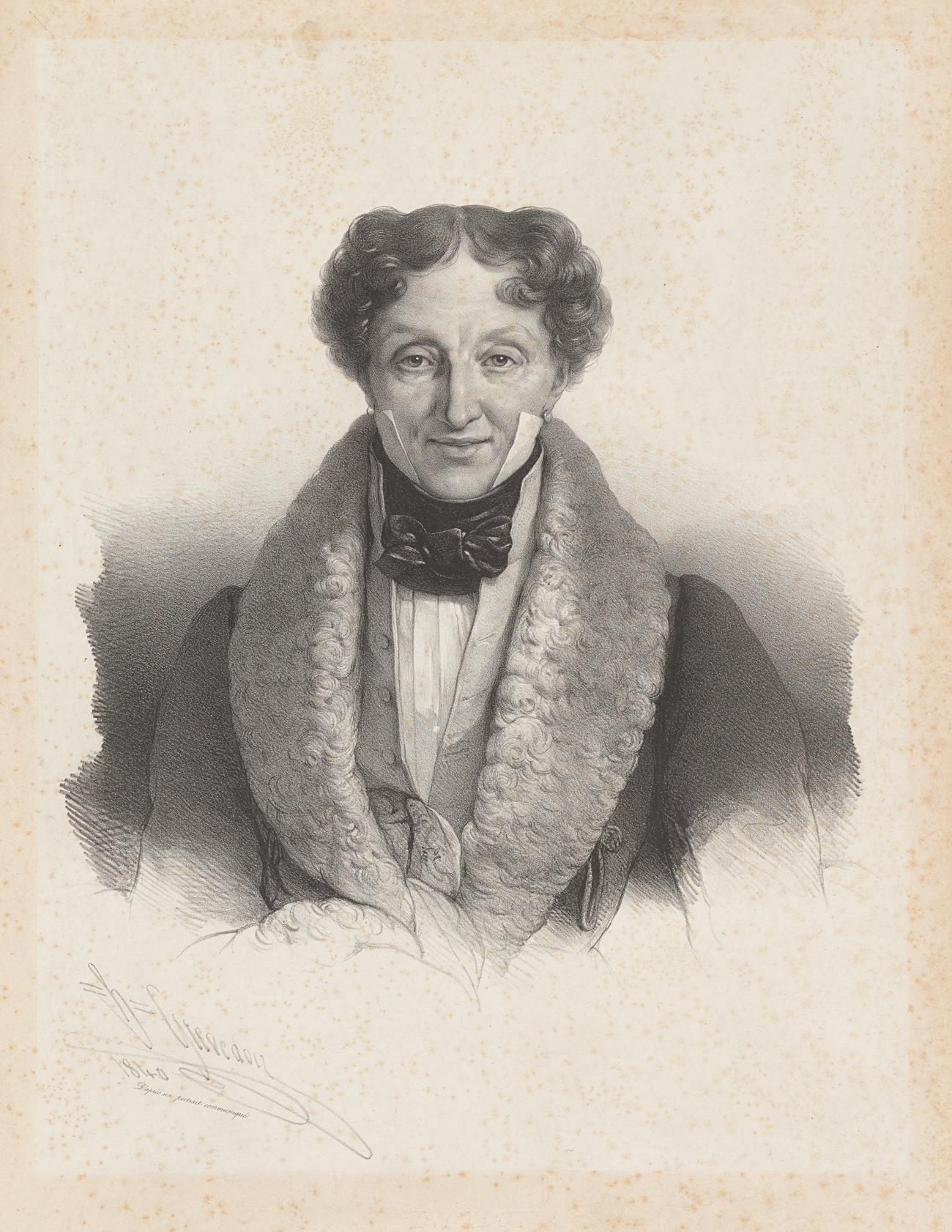 Charles-Louis Didelot. Crédit: Bibliothèque publique de New York