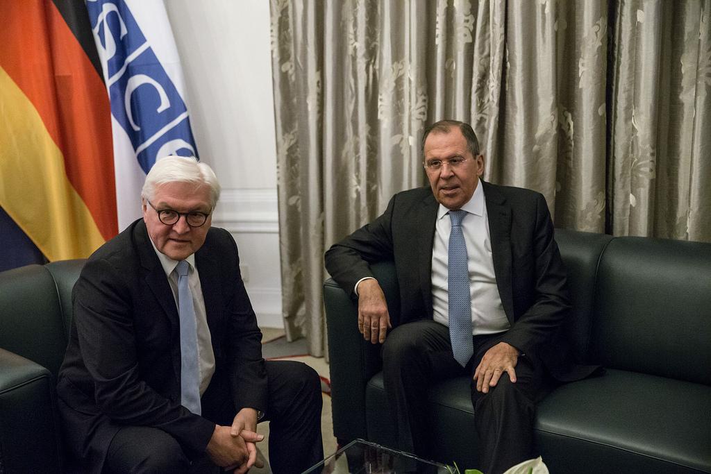 Russian Foreign Minister Sergey Lavrov met with German Foreign Minister Frank-Walter Steinmeier, Hamburg, Dec. 7, 2016