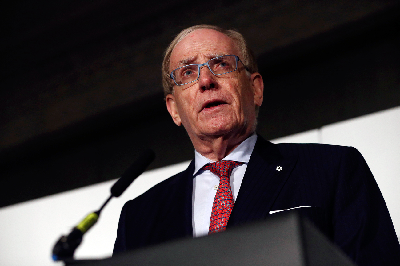Lawyer Richard McLaren delivers his second and final part of a report for the World Anti-Doping Agency (WADA), at a news conference in London, Britain.