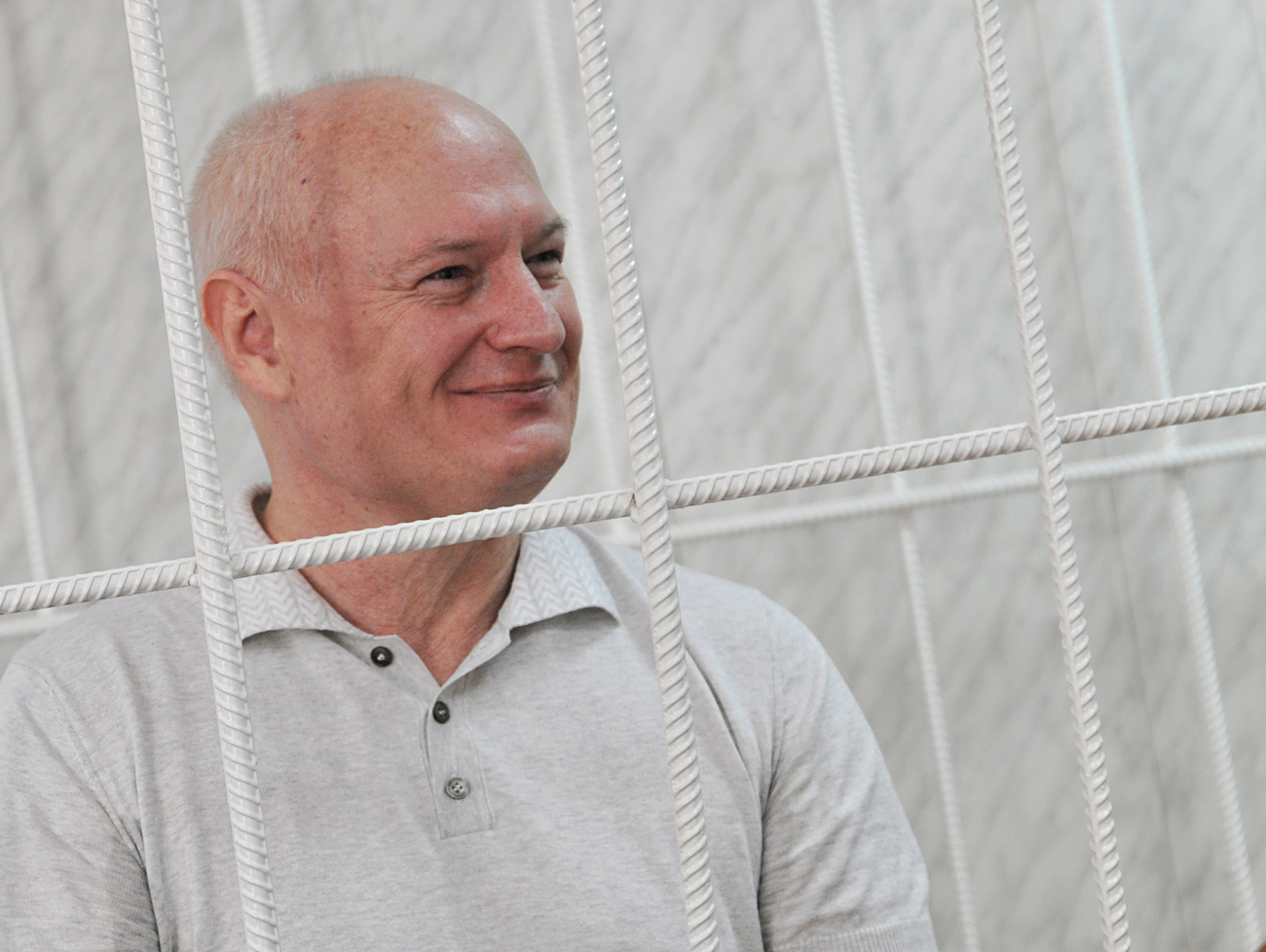 Igor Bestuzhev was sentenced to nine years in a high-security prison and fined 500 million rubles ($17,3 million). Photo: Bestuzhev in court. Source: TASS