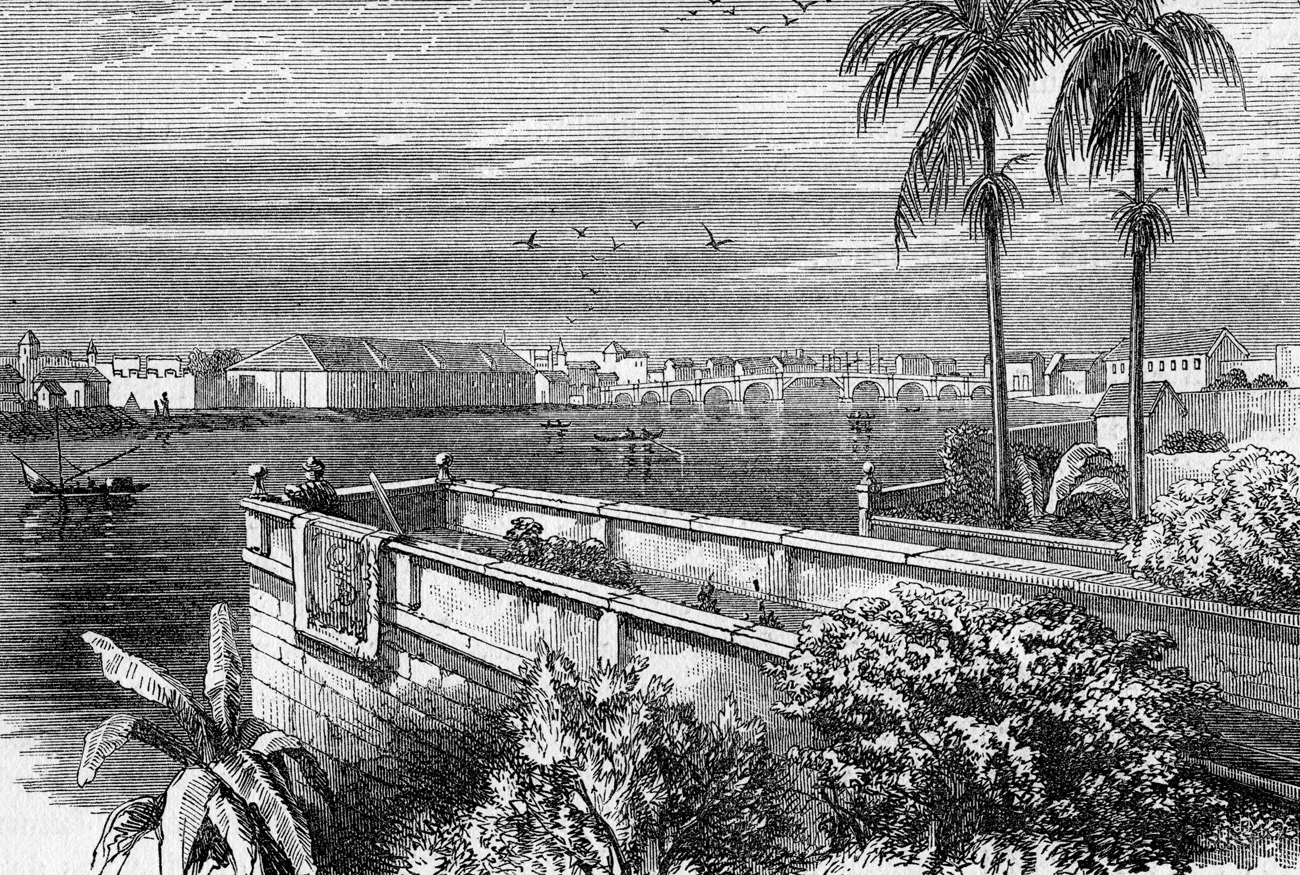 A drawing of Manila in the 19th century.