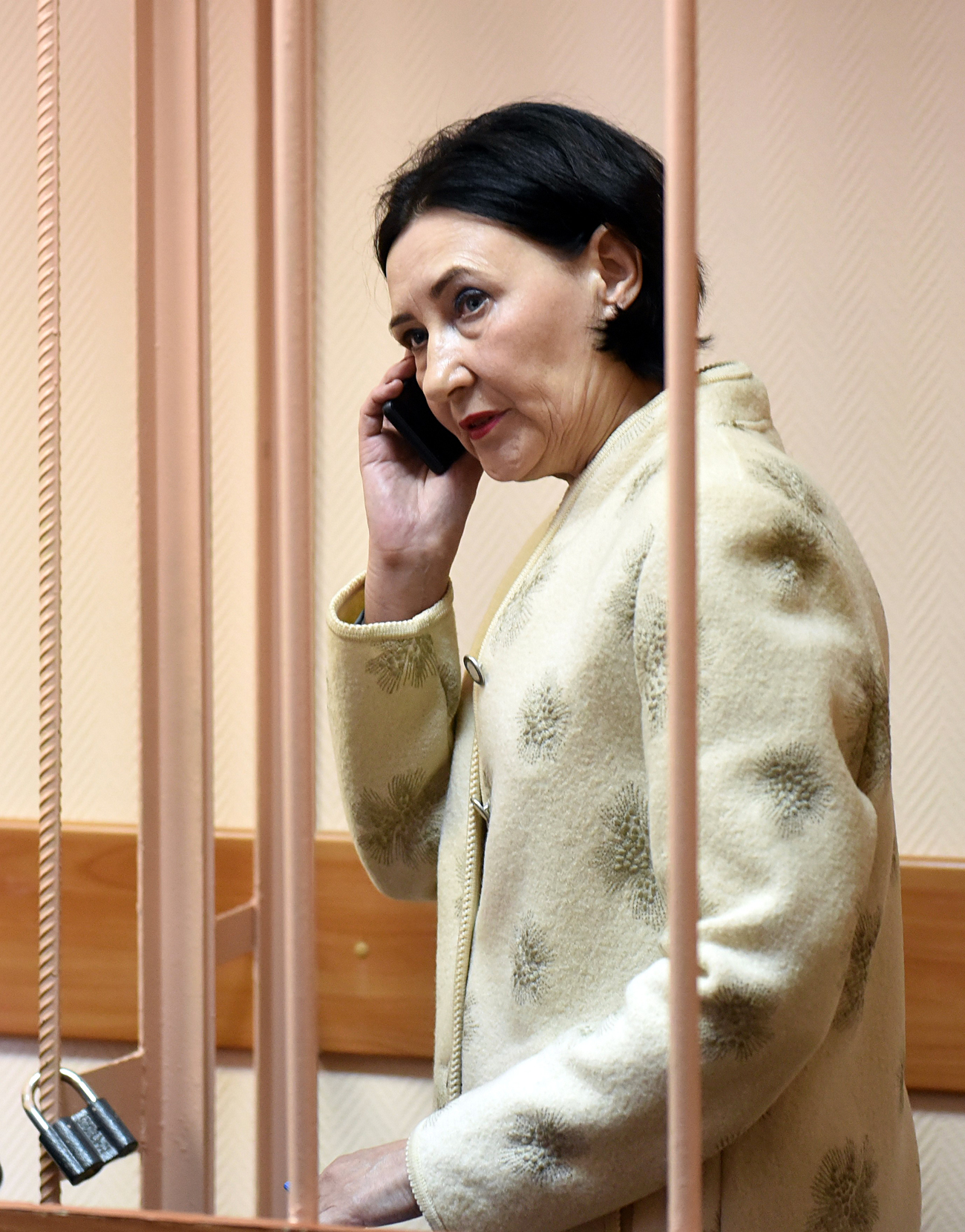 Natalya Grishkevich was detained in St. Petersburg on Feb. 18, 2010. Photo: Grishkevich in court. Source: Kommersant