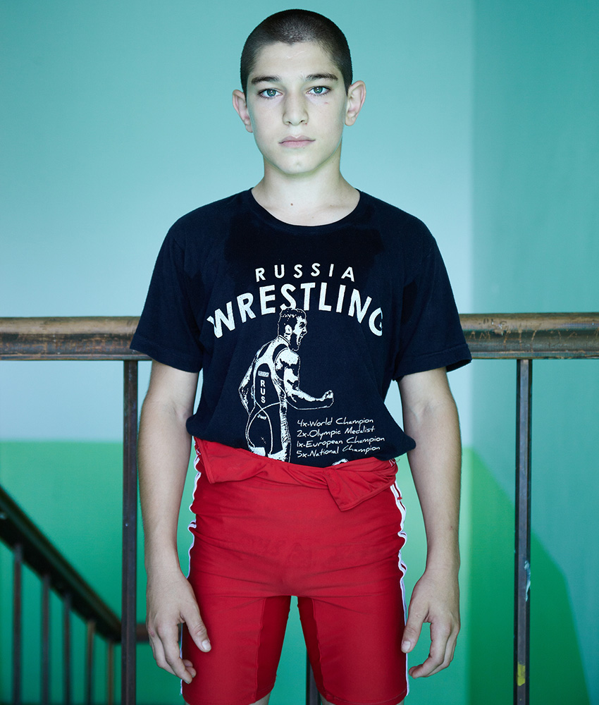 "Alikhan Ktsoev, 13, pupil: ""A man should be athletic and have a strong character."""
