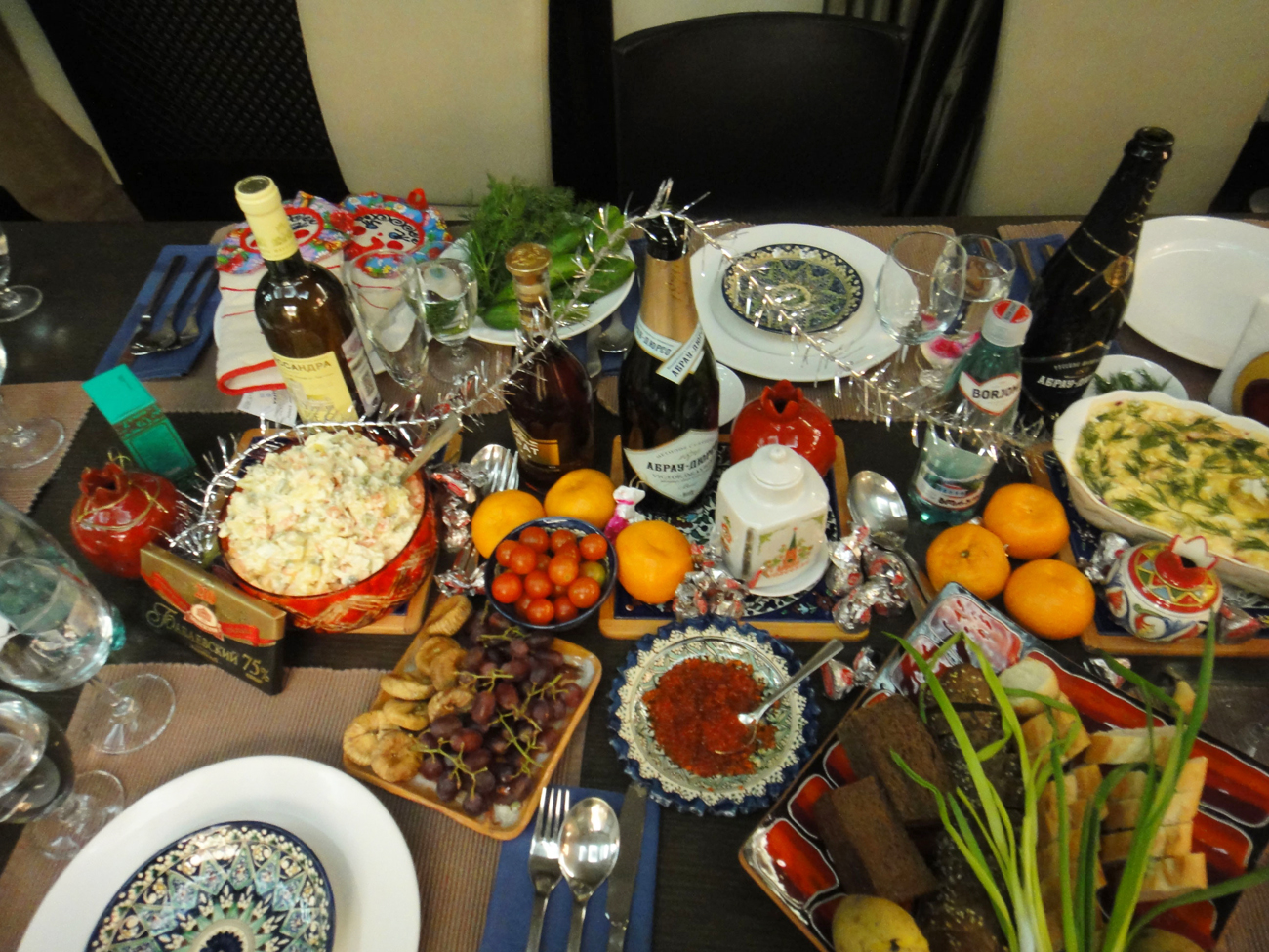 New Year table, Soviet diet style. Source: Anna Kharzeeva