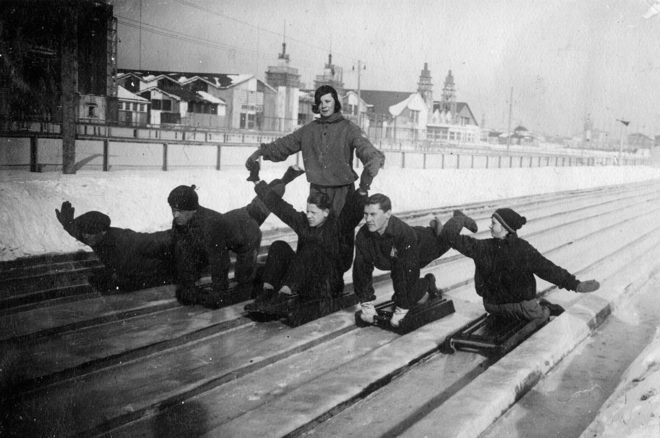 Des Moscovites en 1931. Crédit: archives du parc Gorki.