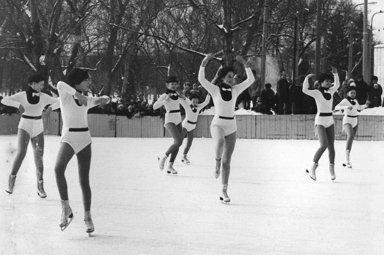 Des compétitions à la mémoire de Samson Gliazer en février 1987. Crédit: archives du parc Gorki.