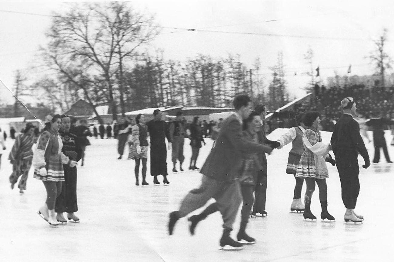 Les années 1950. Crédit : archives du parc Gorky.