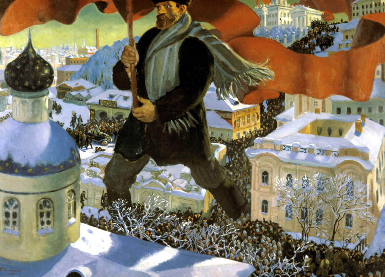 Boris Kustodiev's painting 'Bolshevik' (1920) 