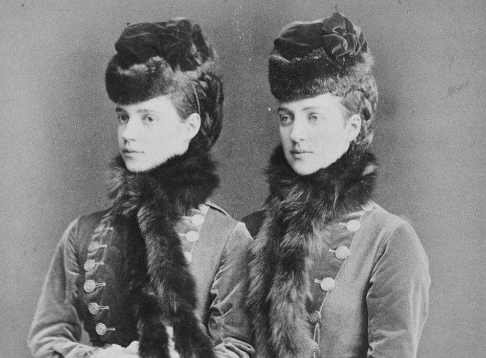 Russian fashion since time immemorial has been connected with furs. Alexandra of Denmark and Maria Fyodorovna, wife of Russian Emperor Alexander III. 1875-1879.