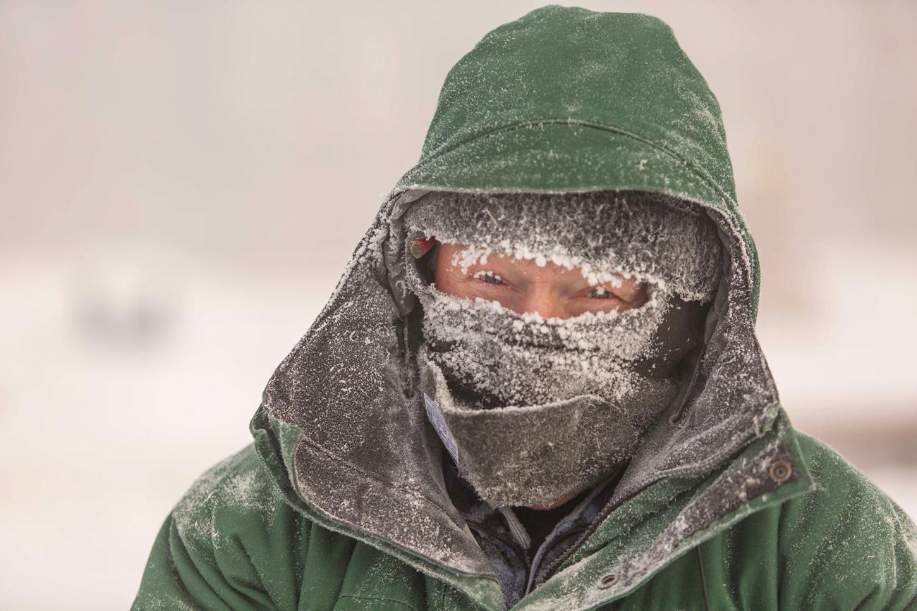 Habitante de Nefteyugansk, en la región de Janti-Mansi, donde la temperatura llegó a los -62ºC.