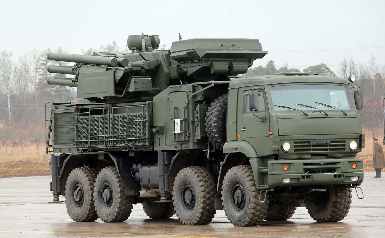 Sistem artileri antipesawat Pantsir-S1 ikut dalam dalam latihan besar pertama untuk Parade Hari Kemenangan. Sumber: Vitaliy Belousov / RIA Novosti
