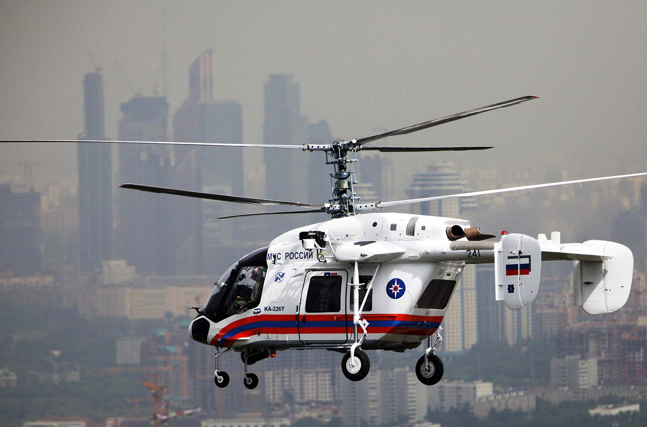 Ka-226 on its way to Crocus EXPO for HeliRussia 2013 helicopter exhibition.