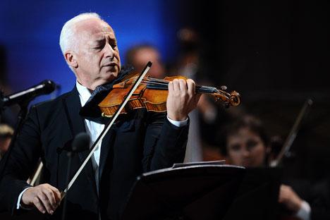 Der berühmte russische Geiger und Dirigent Wladimir Spiwakow.