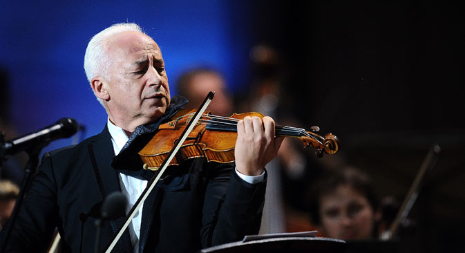 Russian violinist and conductor Vladimir Spivakov.