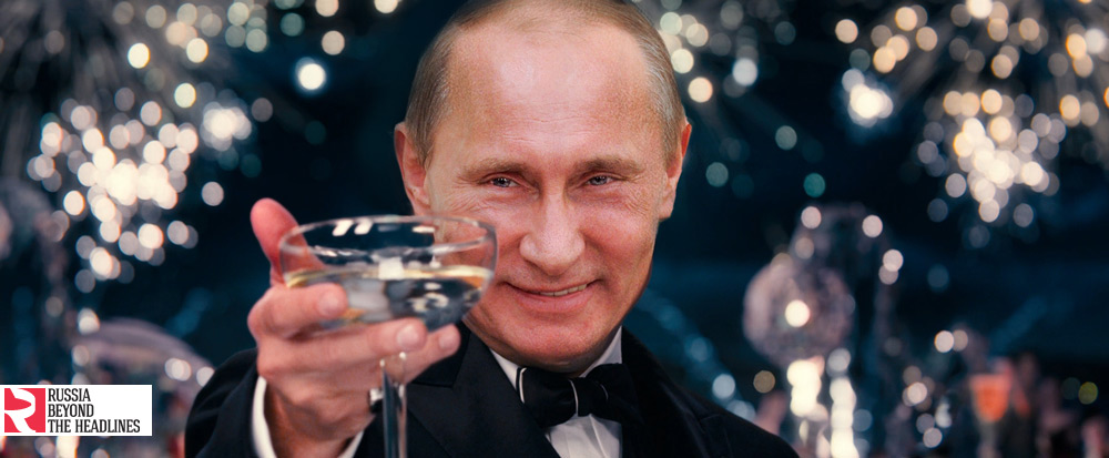 The Great Gatsby: Putin performs the role of lovelorn millionaire Jay Gatsby.