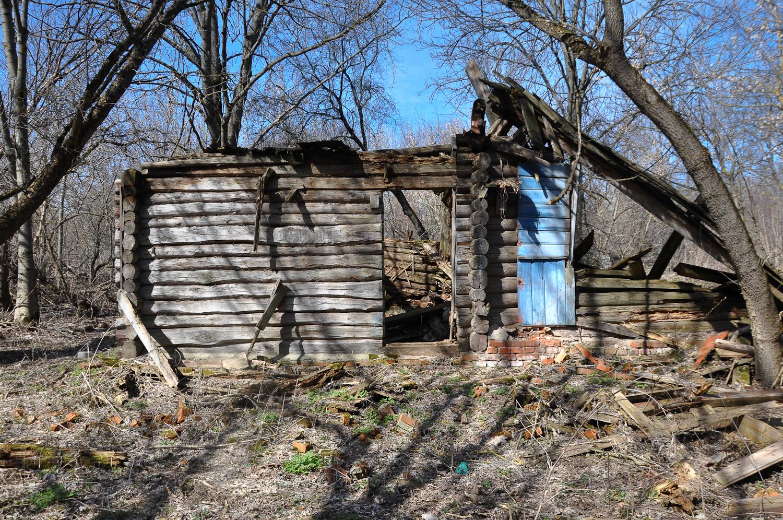 ブリャンスク州スヴァツク村。チェルノブイリの悲劇で消滅した村のひとつ=