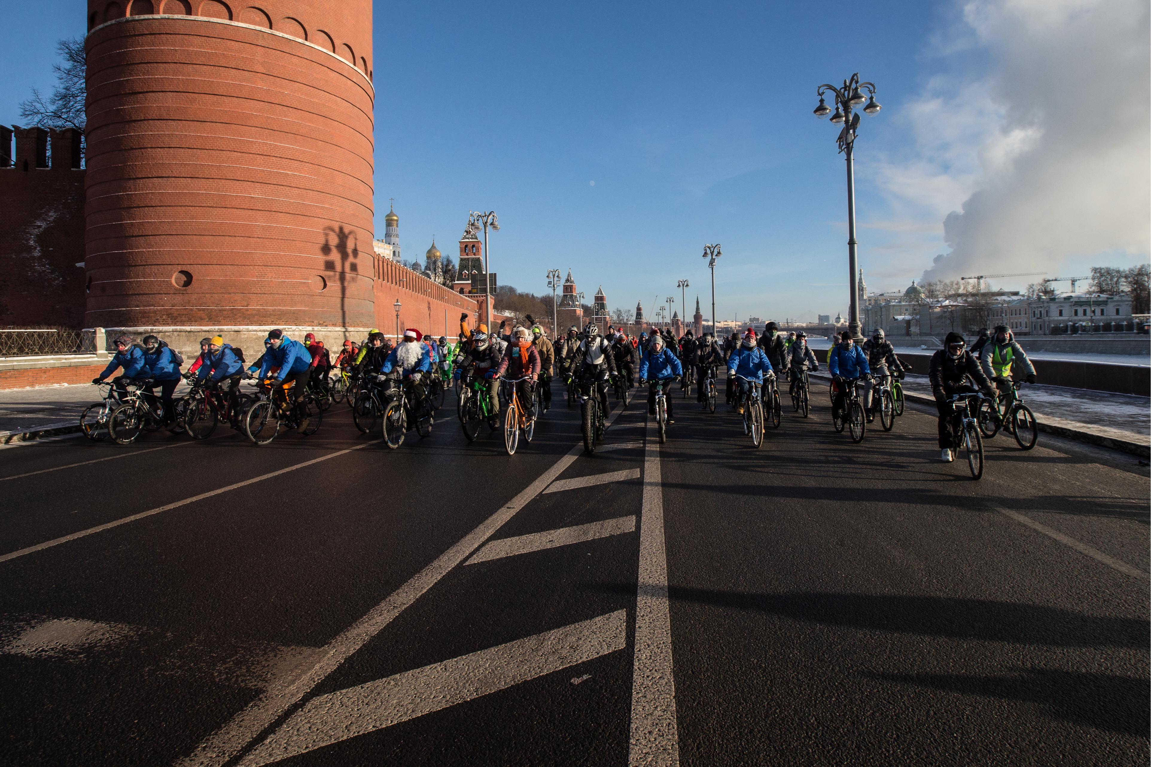 第2回「冬季モスクワ自転車パレード」