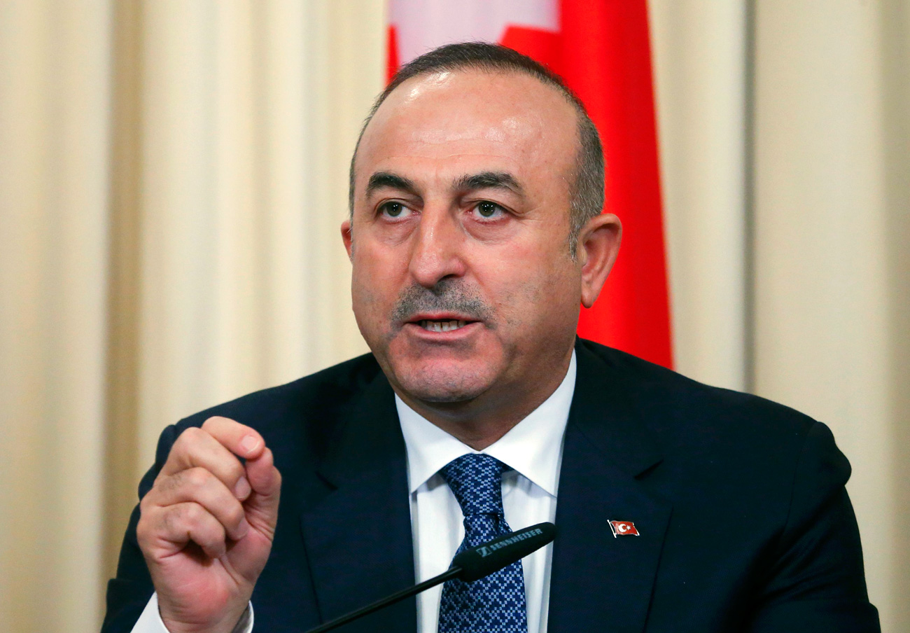Il ministro degli Esteri turco, Mevlut Cavusoglu.