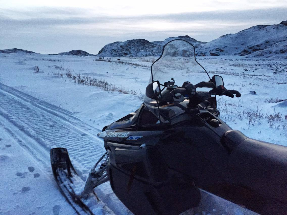 """""""For a small sum of 500 rubles ($8) per person he agreed to attach a sled to his vehicle and take us where we needed to go."""" Source: Maria Stambler"""
