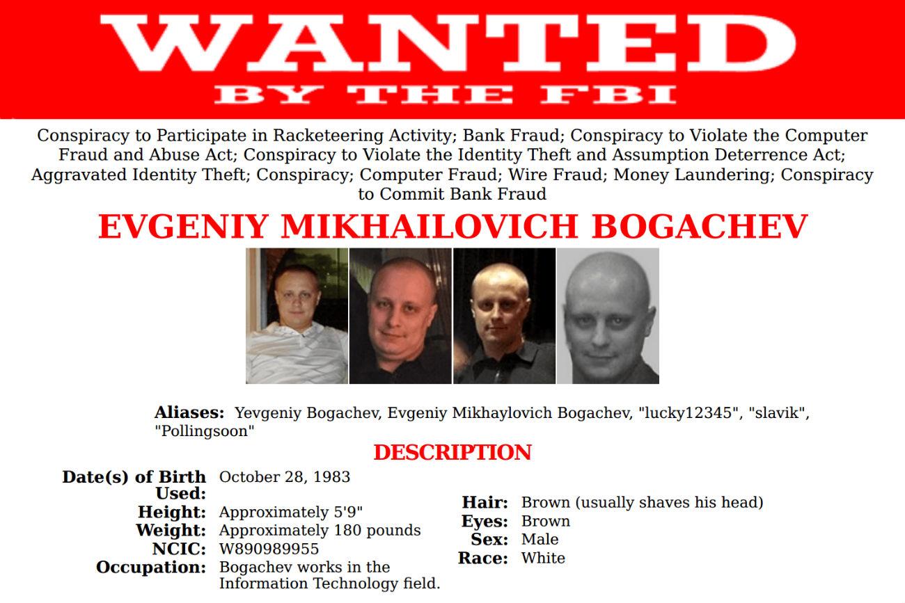 Evgeniy Bogachev / fbi.gov