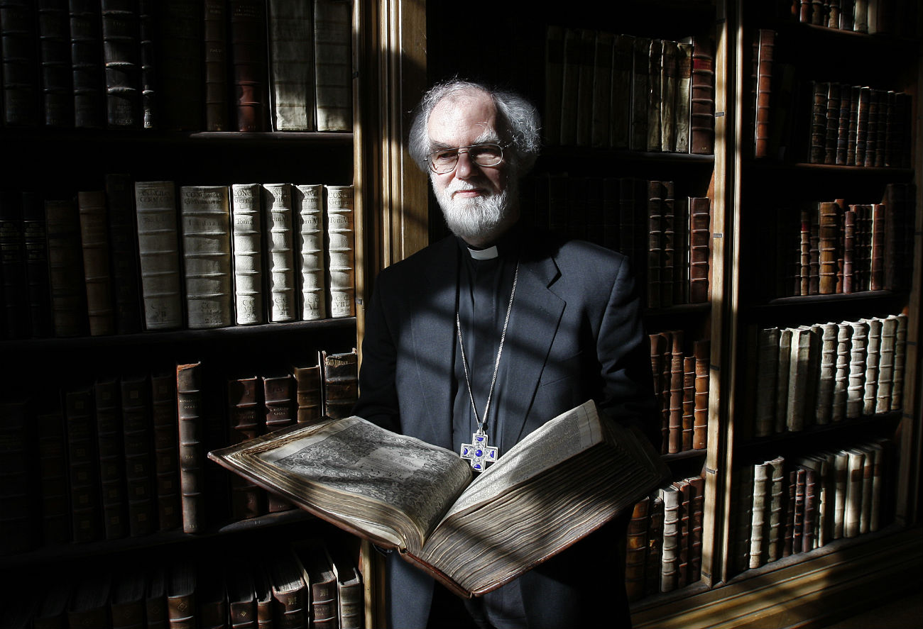 The Archbishop of Canterbury Dr. Rowan Williams.