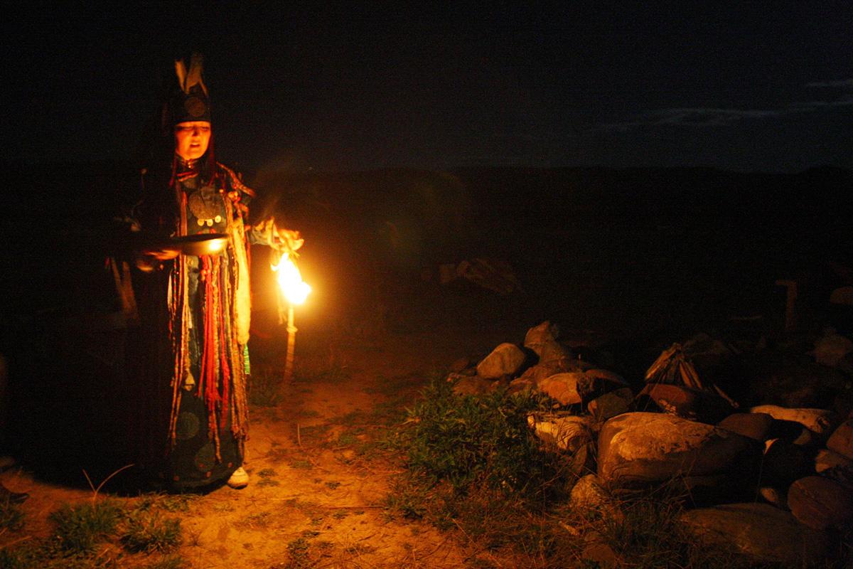 Shaman in the republic of Tuva, Siberia