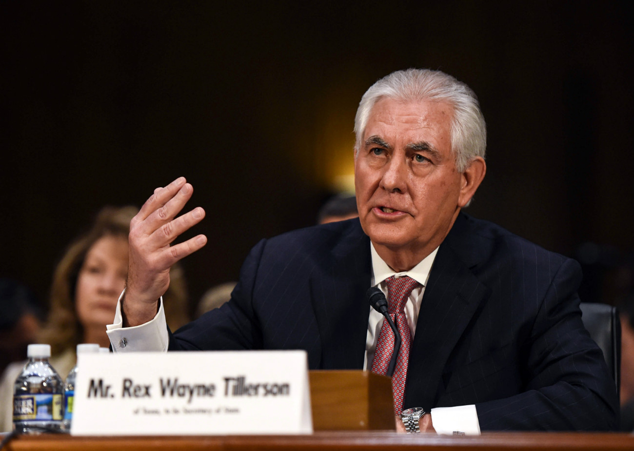 Rex Tillerson testifies before the U.S. Senate Foreign Relations Committee during the confirmation hearing on his nomination to be U.S. secretary of state at Capitol Hill in Washington D.C., the United States, on Jan. 11, 2017.
