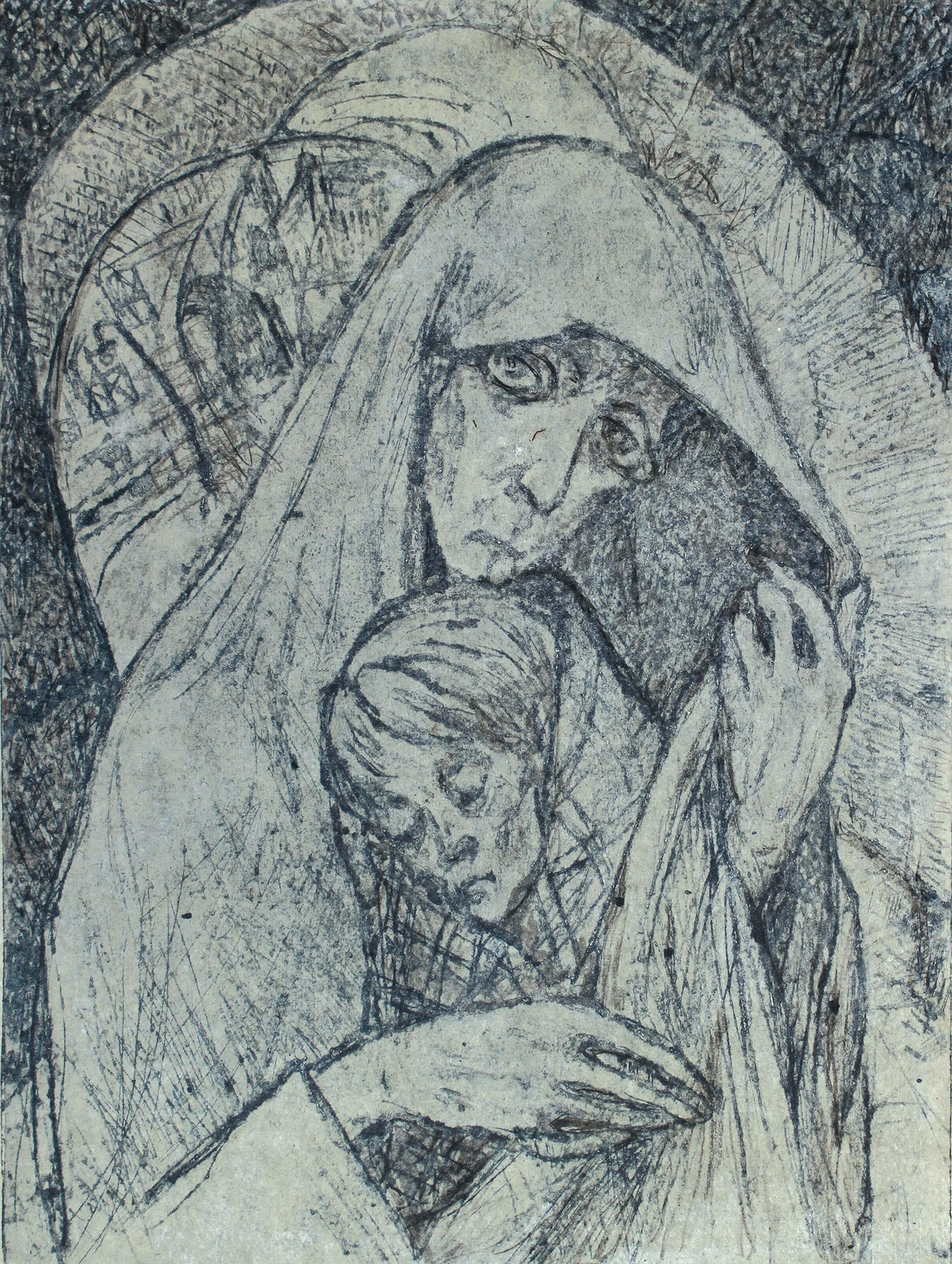 Together with her co-author, Svetlana Magayeva, Marttila published Martyrs of the Siege of Leningrad, a book that features stories of ordinary people who lived and survived in horrible conditions and starvation.  // Picture: Leningrad Madonna (1942)