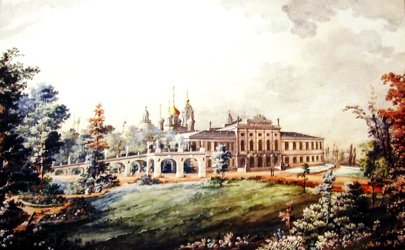 К. Росси. Вид Путевого дворца в Твери. 1800