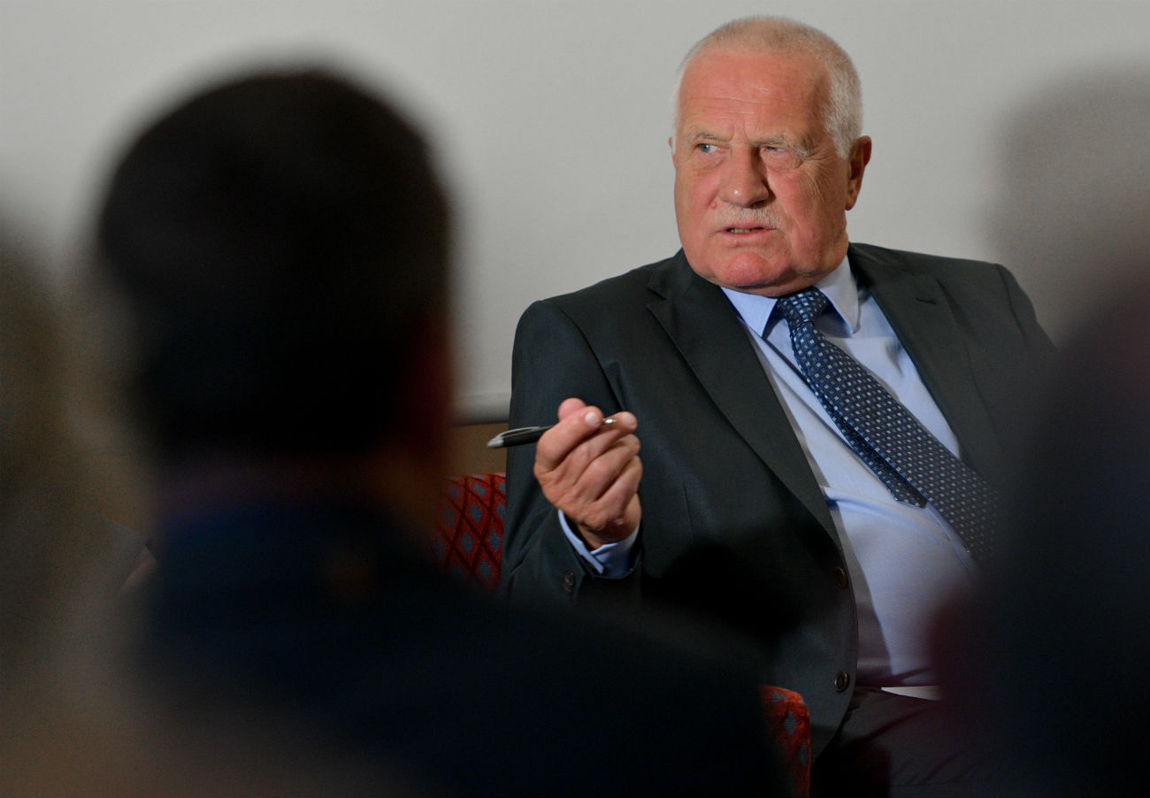 Vaclav Klaus, nekdanji predsednik Češke. Vir: Axel Heimken/Global Look Press